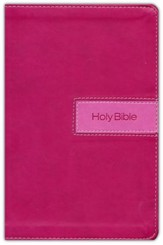 NIV Gift Bible--imitation leather, pink (indexed)