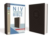 NIV Value Thinline Bible Large Print Gray and Black, Imitation Leather