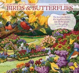 Birds & Butterflies, 16-Month 2017 Wall Calendar