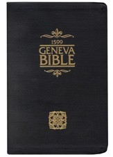 The Geneva Bible 1599 Edition, Bonded Leather Black