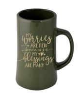 My Worries Are Few Because My Blessings Are Many Mug