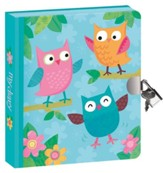 Owls, Lock and Key Diary