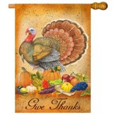 Give Thanks Art Flag, Large