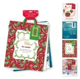Christmas Gift Bag Assortment, with Holly & Ribbon Design, KJV, Large, 4 pack