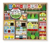 Wooden Town Accessory Set, 30+ pieces