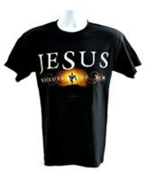 Because of Him Shirt, Black, Large