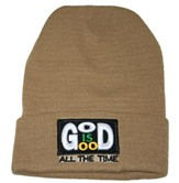 God Is Good All the Time Beanie, Tan