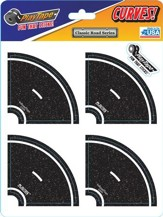 Asphalt Black Road Tape, 2 Inch Tight Curve