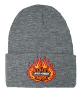 Lord Jesus Christ Savior Beanie, Grey