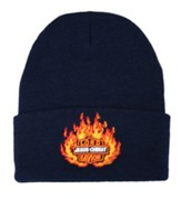 Lord Jesus Christ Savior Beanie, Navy Blue