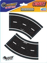 Asphalt Black Road Tape, 2 Inch Broad Curve