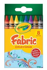 Crayola, Fabric Crayons, 8 Pieces