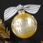Just Married Banner Ornament
