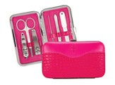 Manicure Set, Hot Pink with Scripture