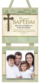 On Your Baptism Photo Plaque
