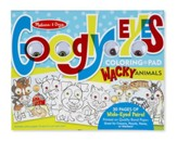 Wacky Animals, Googly Eyes Coloring Pad