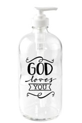 God Loves You Soap Dispenser