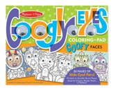 Wacky Faces, Googly Eyes Coloring Pad