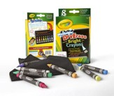 Crayola, Washable Dry-Erase Crayons, Bright Colors, 8 Pieces
