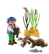 PlayMobil Young Explorer with Otters