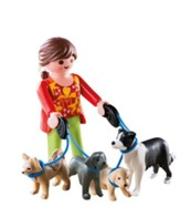 PlayMobil Dog Walker with Dogs
