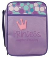 Princess, Daughter Of the King Bible Cover, Purple, Large