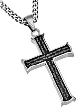 No Weapon Iron Cross Necklace, Black