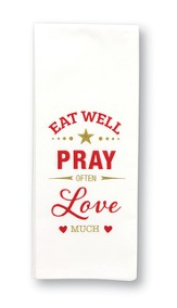 Pray Often Flour Sack ToweL with Scripture