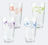 Inspirational Assorted Drinking Glasses, Set of 4