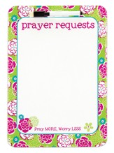 Prayer Dry Erase Board, Pink and Green
