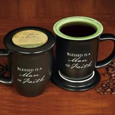 Blessed is a Man of Faith Mug and Coaster