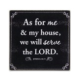 As For Me Glass Cutting Board with Scripture