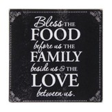 Bless The Food Glass Cutting Board with Scripture