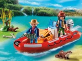 Playmobil Inflatable Boat with Explorers Accessory