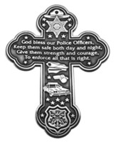 God Bless Our Police Officers Wall Cross