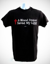 A Blood Donor Shirt, Black, Extra Large