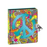 Peace Sign, Lock and Key Diary