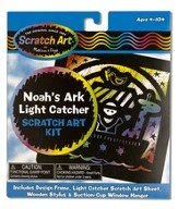Noah's Ark Light Catcher, Scratch Art Kit