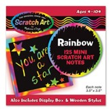 Rainbow Scratch Art Mini Notes, Box of 125