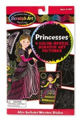 Scratch Art, Color Reveal Pictures, Princesses