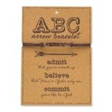 ABC, Admit, Believe, Commit, Arrow Bracelet, Copper