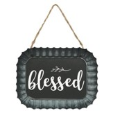 Blessed Fluted Tin Sign