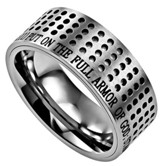 Armor of God Sport Men's Ring Silver, Size 10 (Ephesians 6:11)