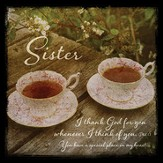 Sister, I Thank God For You Boxed Plaque