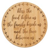 Bless The Food Before Us Bamboo Trivet