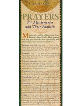Prayers for Missionaries And their Families Prayer Card, Pack of 50