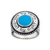 Live by Faith, Not By Sight Ring, Size 8