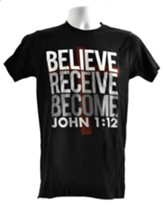 The Case for Christ: Believe. Receive. Become. T-Shirt, Large