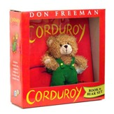 Corduroy Book and Plush Bear Set