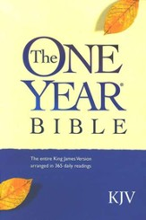 KJV One Year Bible, Compact Edition--softcover - Slightly Imperfect